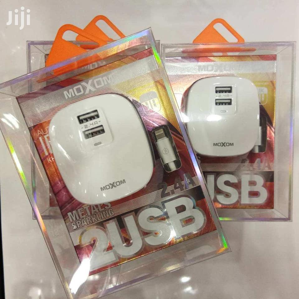 New Stock⚠ Moxom Kh-59 Charger🔌 ✅2 Usb(Auto-id 2.4A) ✅Ios,Tyce C. | Accessories for Mobile Phones & Tablets for sale in Tudor, Mombasa, Kenya