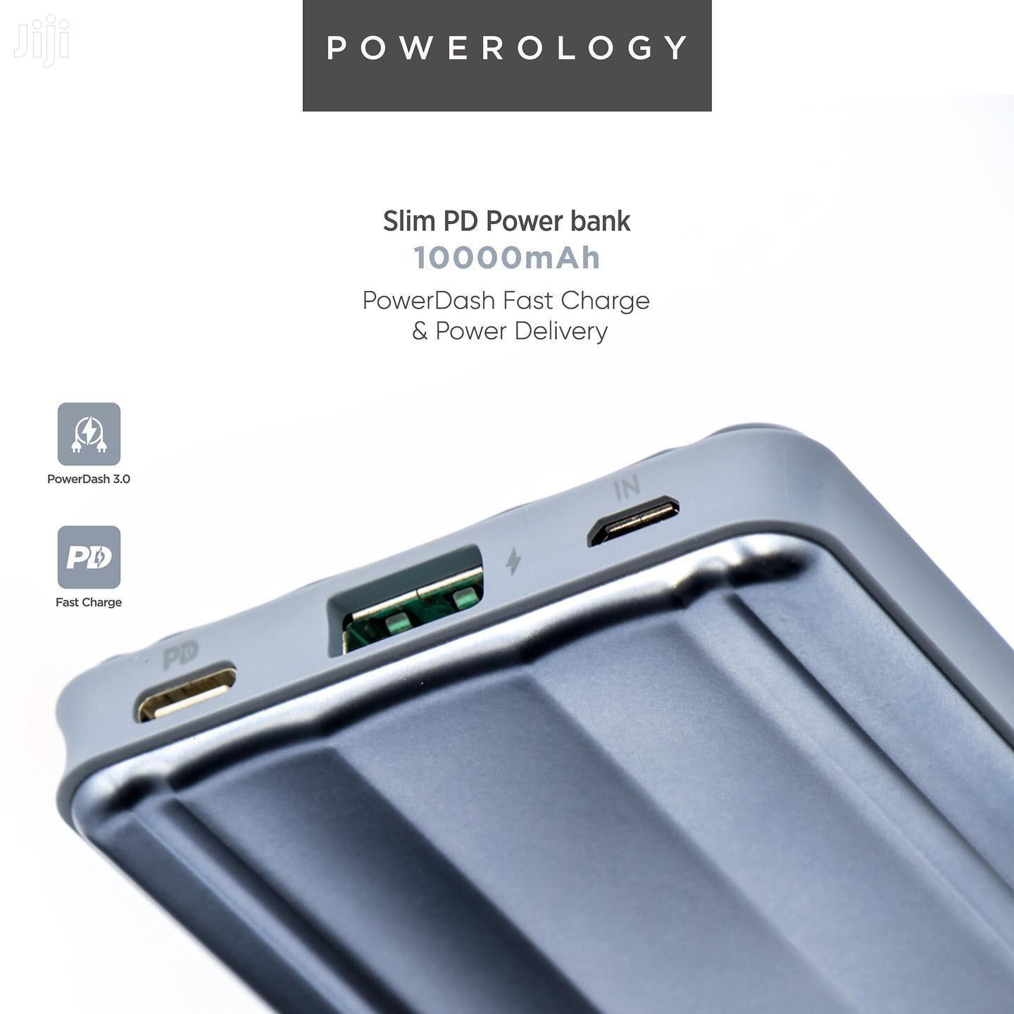 Powerology Slim PD Power Bank 10000mah 18W - Gray -ultra- | Accessories for Mobile Phones & Tablets for sale in Tudor, Mombasa, Kenya