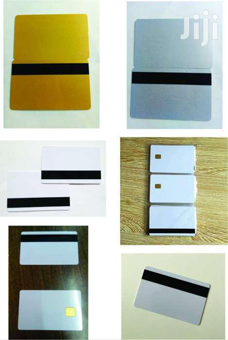 Magnetic Stripe Cards-white, Gold & Silver
