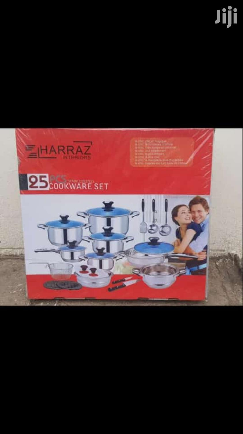 Stainless Steel Sufuria/25pc Cookerware/Induction Cooking Pot