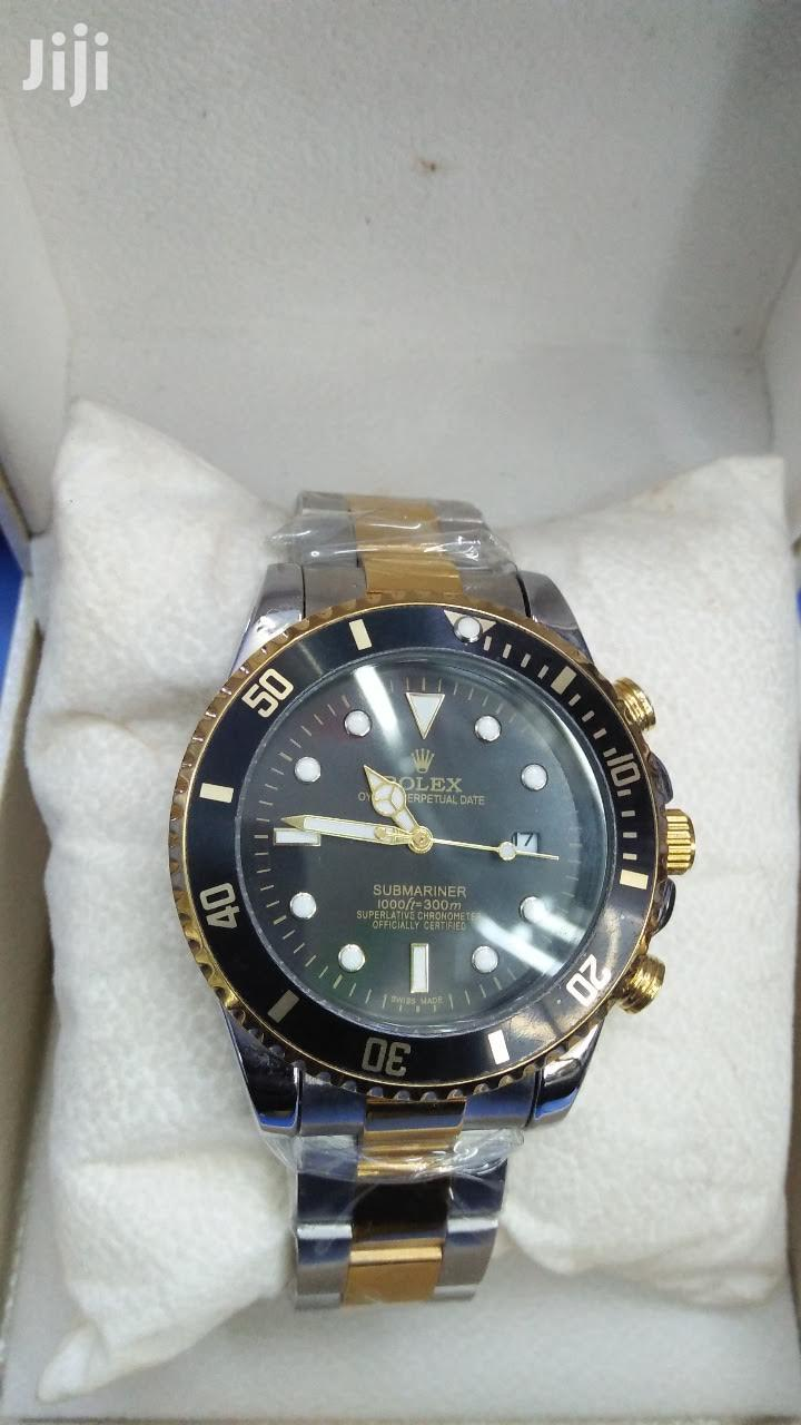 Black And Silver Rolex