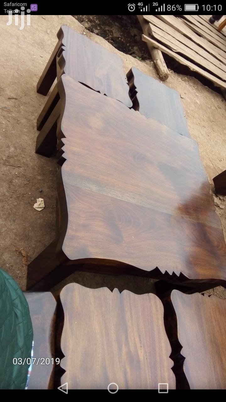 Archive: Antique Coffee Table With 4 Stools