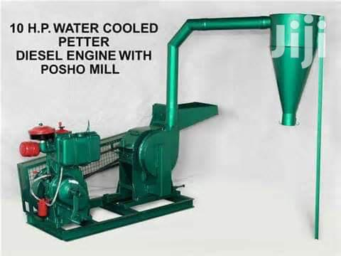 Posho Mill Driven With 10hp Diesel Engine