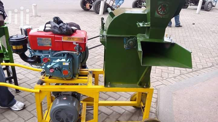 Combined Electric And DIESEL Engine Chopper Machine.