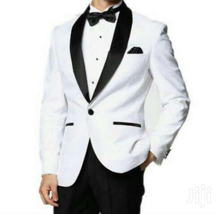 Black And White Tuxedo Suit.
