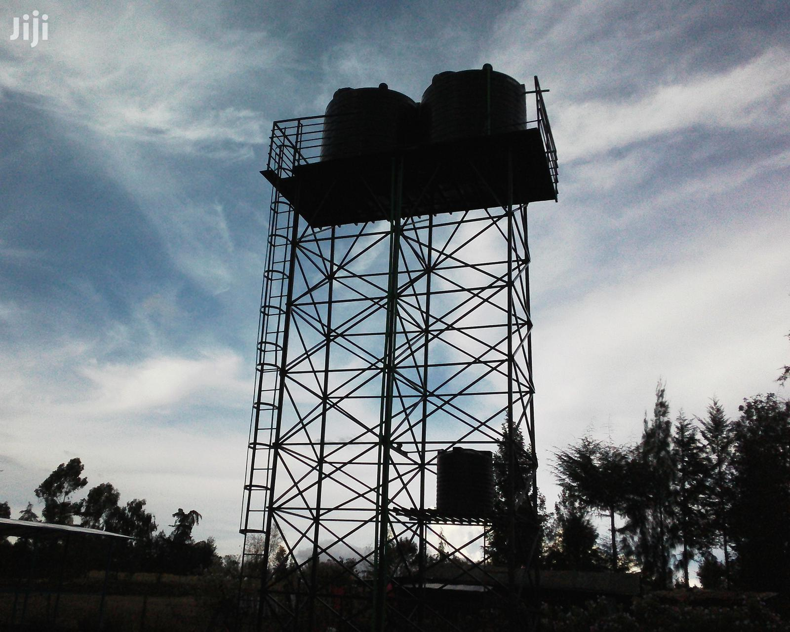 Tank Tower Tank Stand Platform Raised Tank Stand Steel Tower Metal