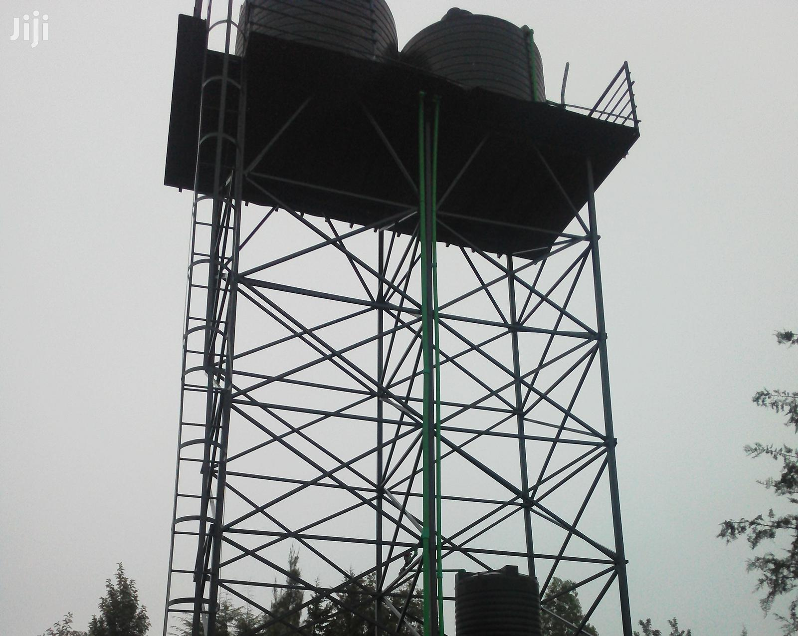 Tank Tower Tank Stand Platform Raised Tank Stand Steel Tower Metal | Other Repair & Construction Items for sale in Karen, Nairobi, Kenya