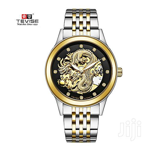 Archive: Tevise Executive Mechanical Men's Watch- Silver and Gold