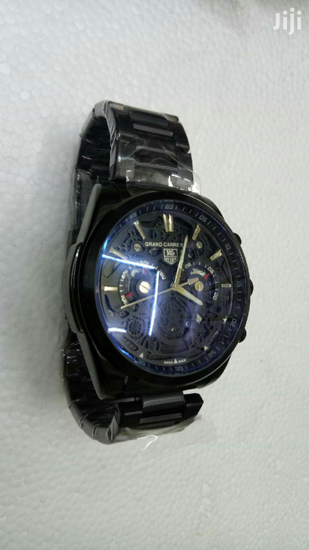 Black Tagheure Chrono Men's Watch
