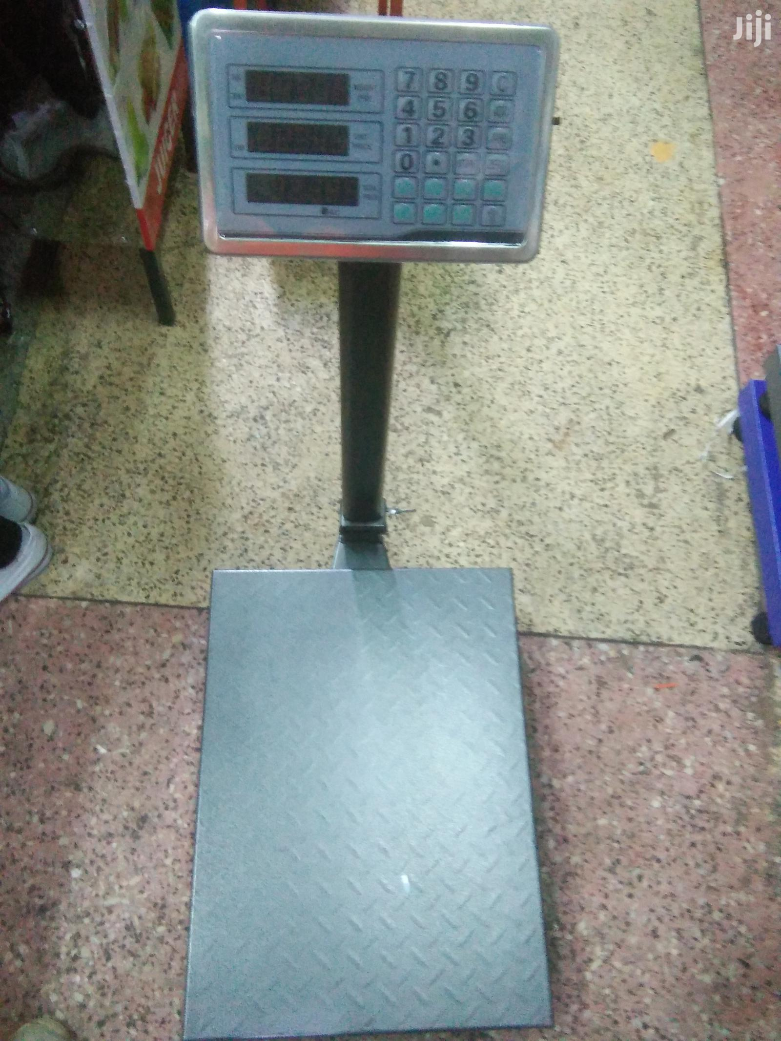 Heavy Duty Digital Platform Weighing Scale 300kg Capacity