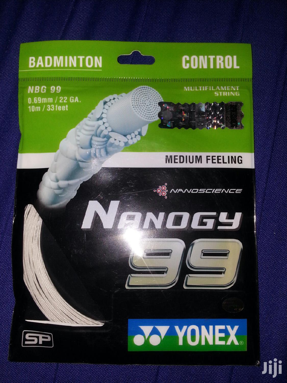 White Yonex Nanogy 99 Racket String