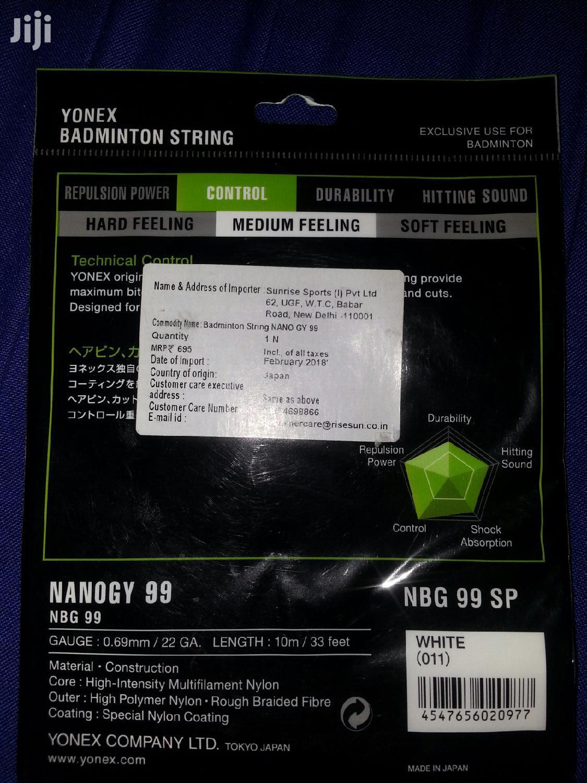 White Yonex Nanogy 99 Racket String | Sports Equipment for sale in Likoni, Mombasa, Kenya