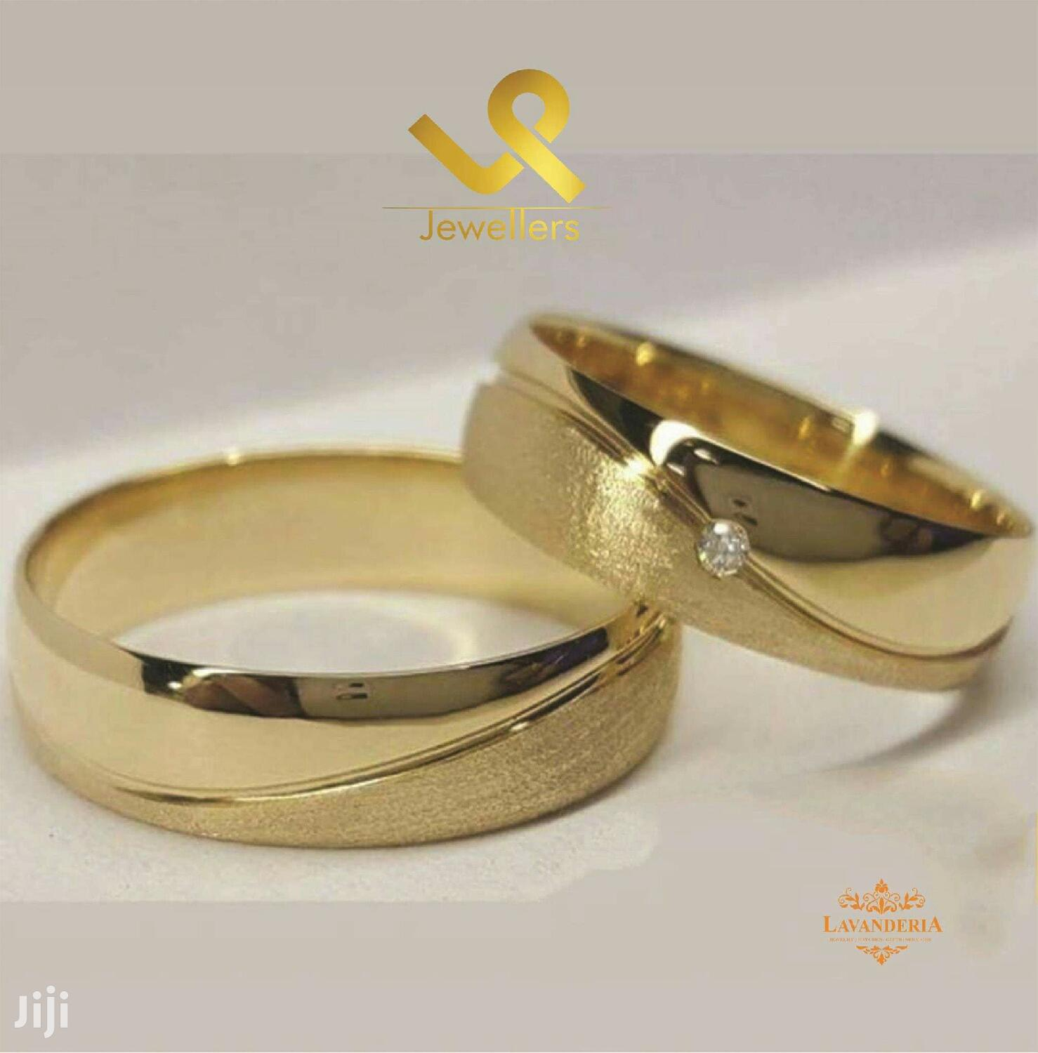 Custom Made 18k Gold Couple Matching Wedding Band Rings Laser In Nairobi Central Wedding Wear Accessories L And P Jiji Co Ke