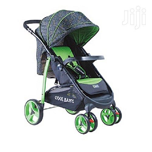 Baby Stroller/Foldable Pram Portable Baby Stroller Casters -green