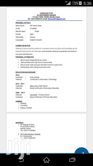 Sales Telemarketing CV   Sales & Telemarketing CVs for sale in Nairobi, Makadara