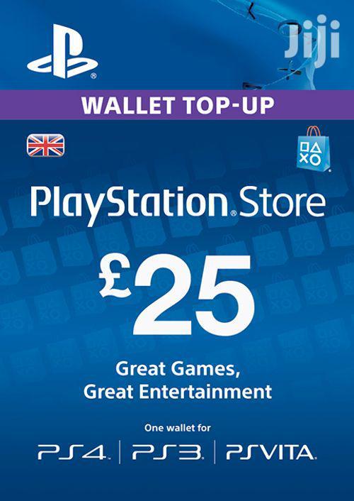 Playstation Gift Card - (PS Vita/PS3/PS4) UK
