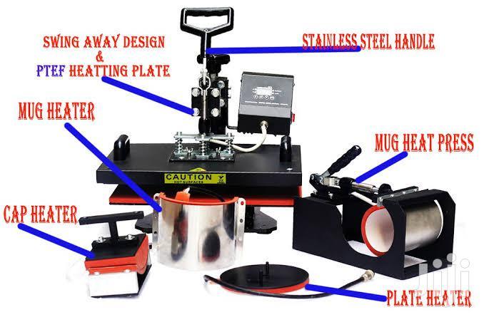 5 In 1 Combo Heat Press Multi Transfer Sublimation Printing Machine