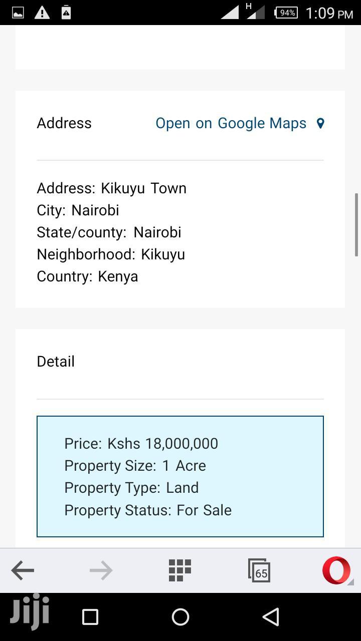 1 Acre Prime Land Kikuyu,Sigona | Land & Plots For Sale for sale in Kikuyu, Kiambu, Kenya