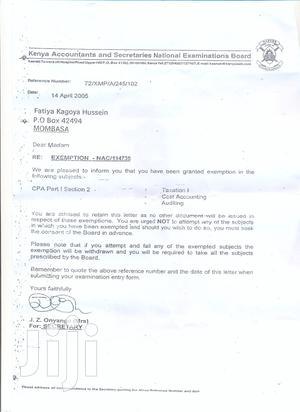 Accounts Assistant | Accounting & Finance CVs for sale in Mombasa, Mvita