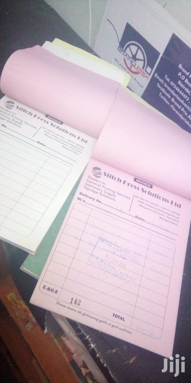 Receipt Books ,Invoice Books And Delivery Books | Manufacturing Services for sale in Nairobi Central, Nairobi, Kenya