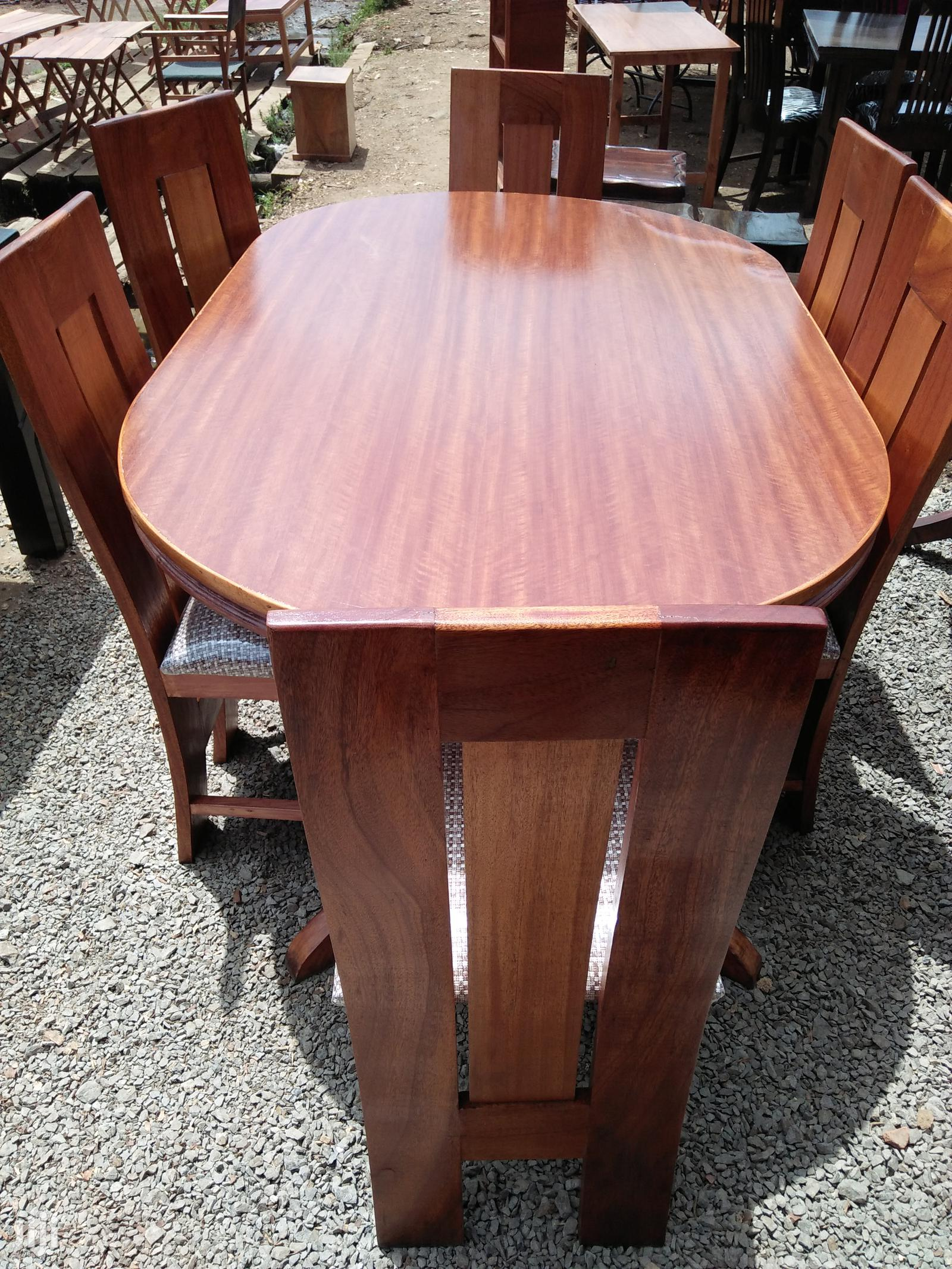 Archive: Oval Mahogany Dining Table