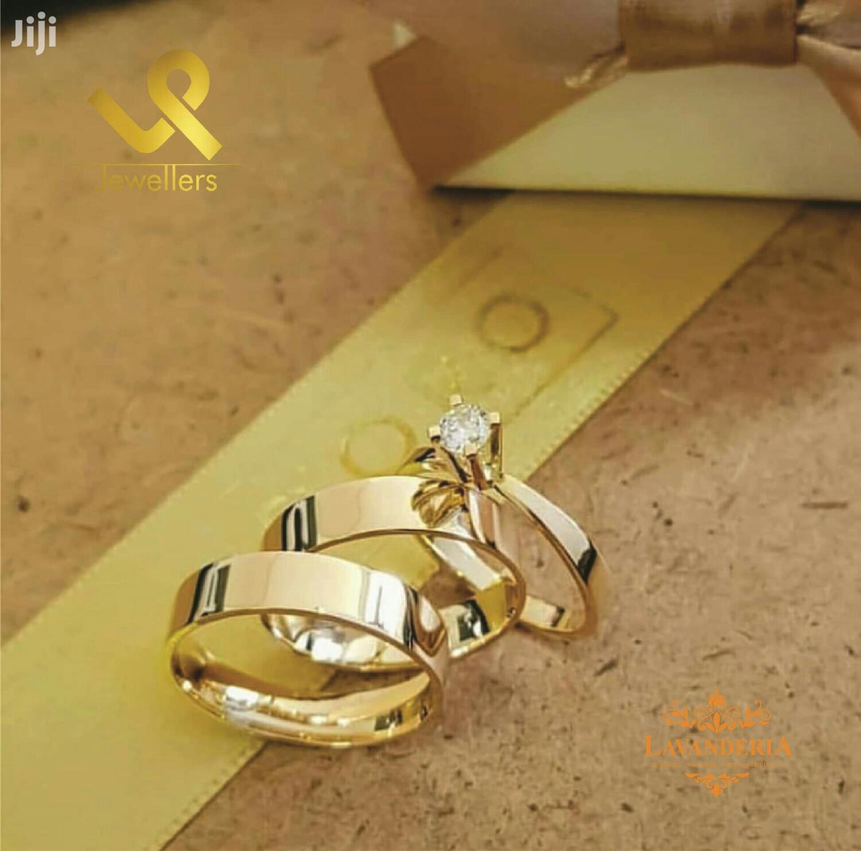 Custom Made 18k,14,9k Gold Bride N Groom Matching Wedding Band Rings