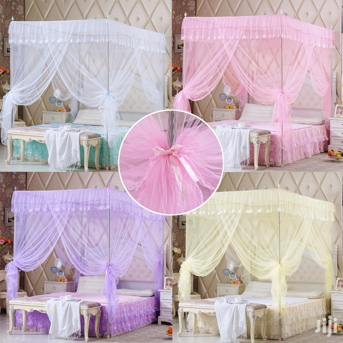Four Corner Post Bed Canopy Mosquito Net - Single, Double, King Size