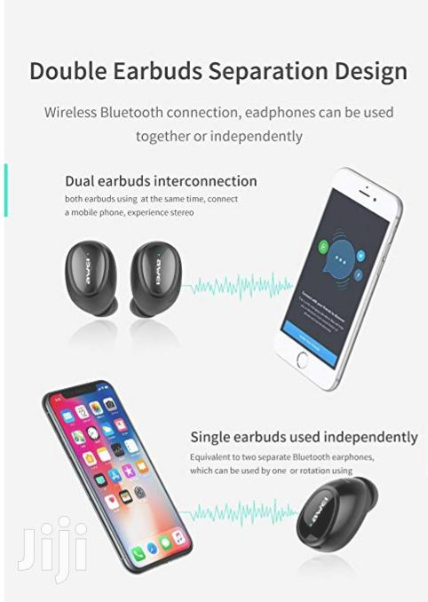 Awei T5 Bluetooth Wireless Earphones,With Mic | Headphones for sale in Nairobi Central, Nairobi, Kenya