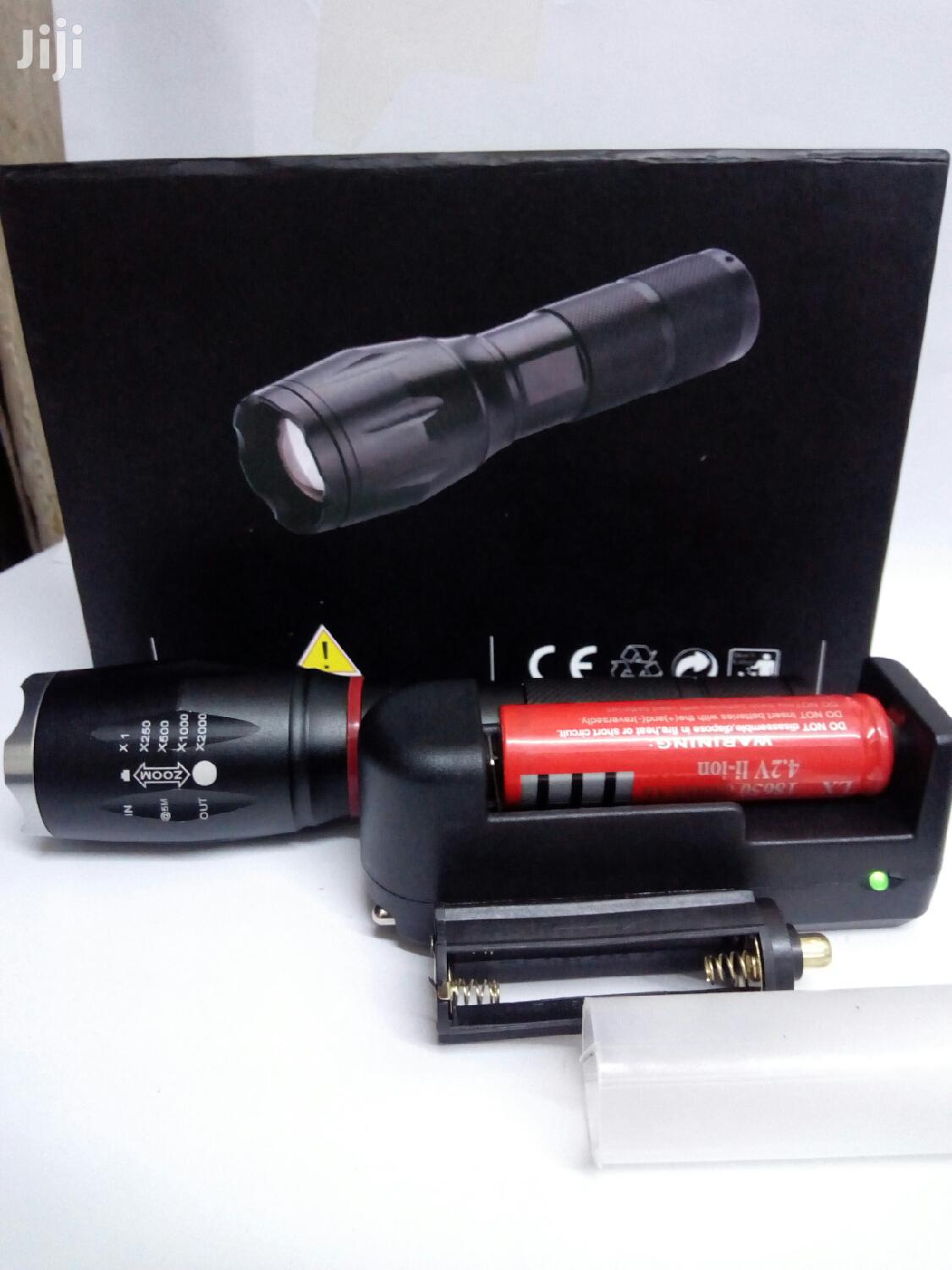 Zoomable Torch With Rechargeable Battery And SOS | Camping Gear for sale in Nairobi Central, Nairobi, Kenya