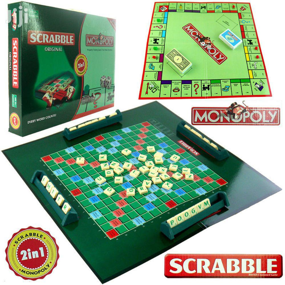 2in1 Family Scrabble & Monopoly Board Games & Toys