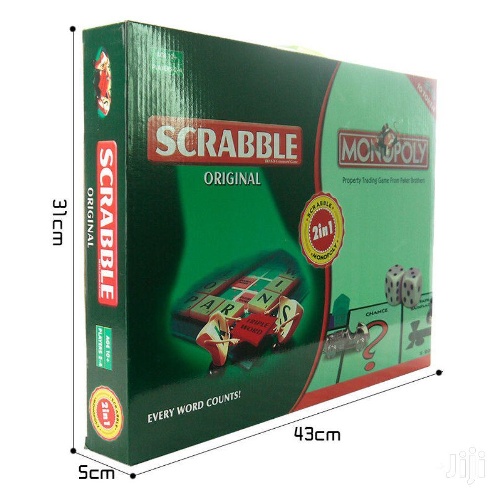 2in1 Family Scrabble & Monopoly Board Games & Toys | Books & Games for sale in Nairobi Central, Nairobi, Kenya