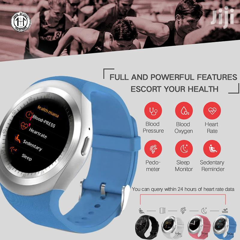 Y1 PLUS Smart Watch With Heart Rate Blood Pressure Monitor - Blue | Tools & Accessories for sale in Nairobi Central, Nairobi, Kenya