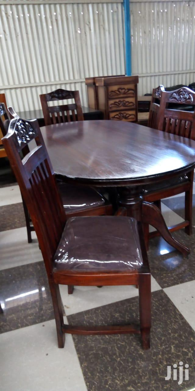 Oval Mahogany 6 Seater Dining Tables | Furniture for sale in Pumwani, Nairobi, Kenya