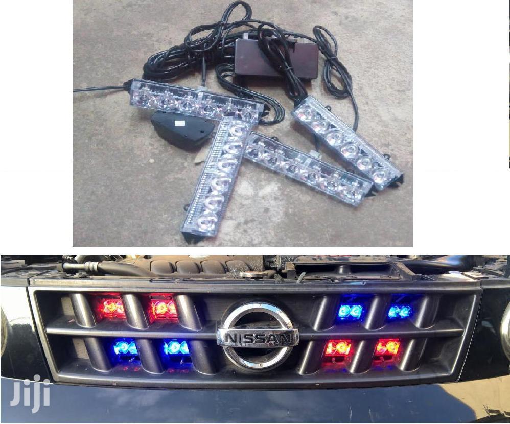 4-piece LED Warning Strobe Lights: For Toyota,Landrover,Mercedes,Vw