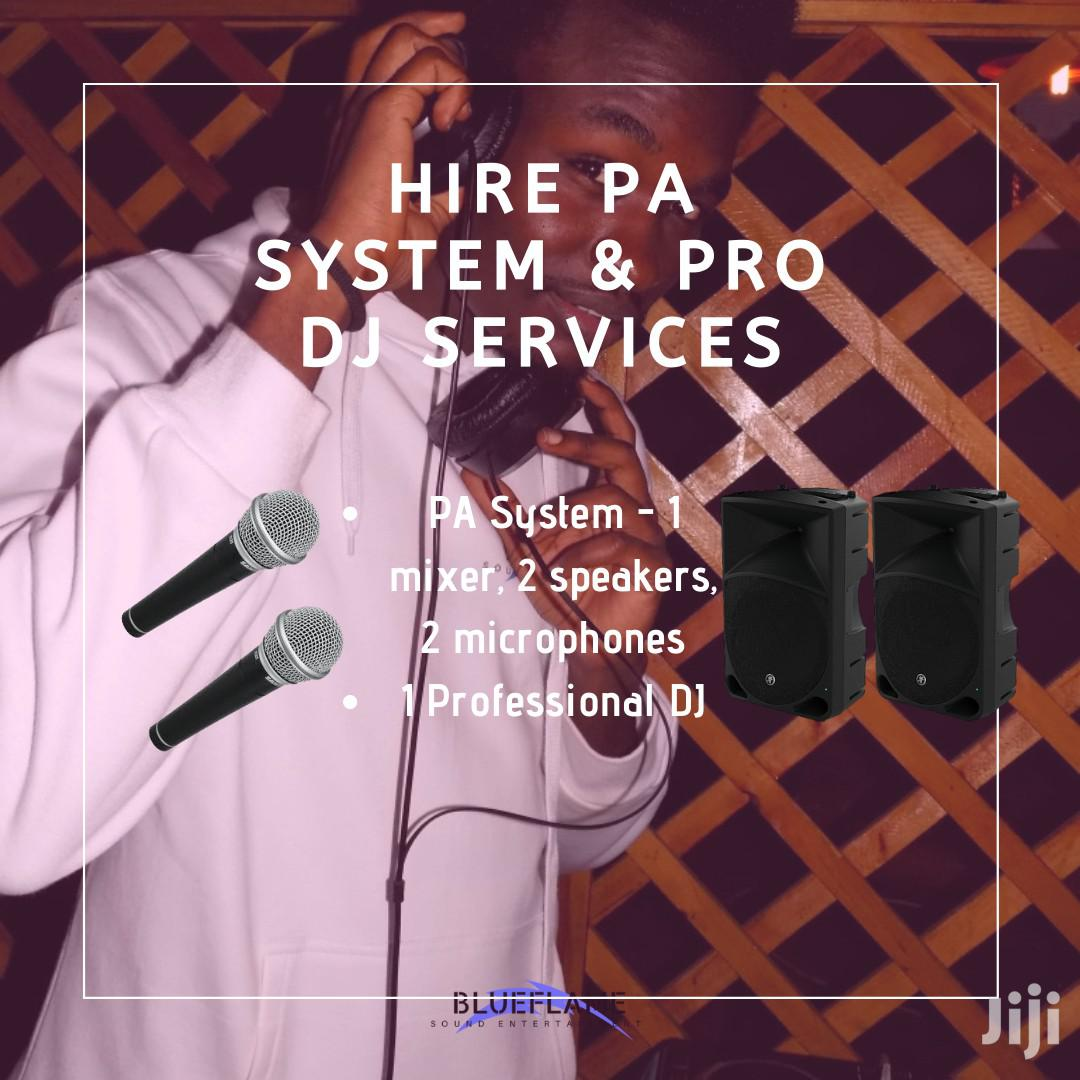 Hire PA System And Pro DJ Services