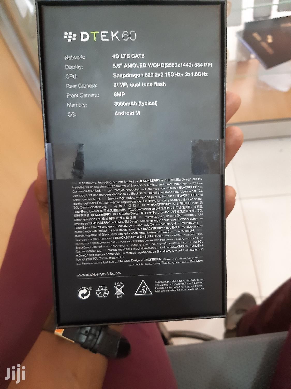 New BlackBerry DTEK60 32 GB Black   Mobile Phones for sale in Nairobi Central, Nairobi, Kenya