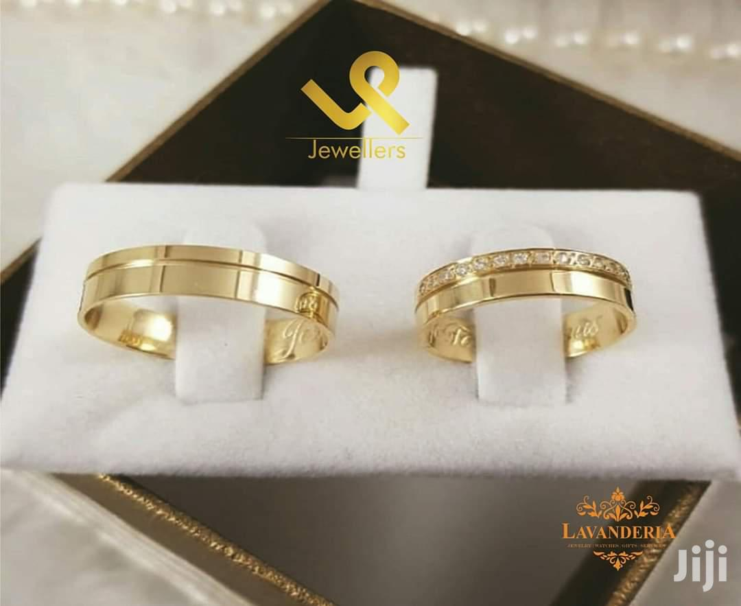 Custom Made Bride N Groom 18k Gold Wedding Ring Bands