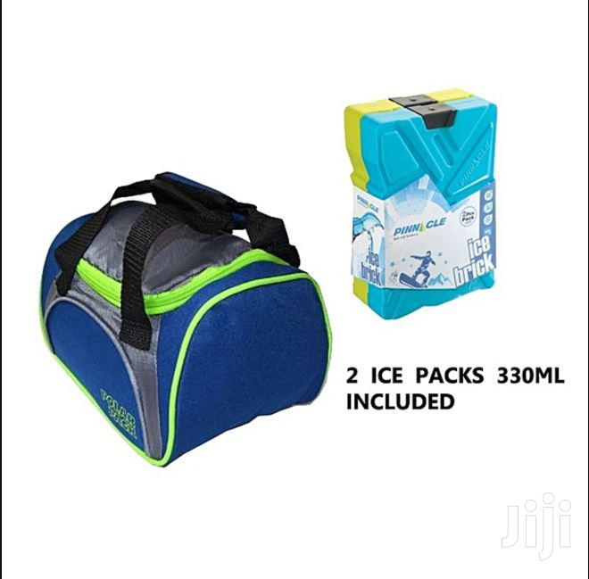 Archive: Breast Milk Cooler Bag With 2 Cooler Ice Packs - Blue & Grey