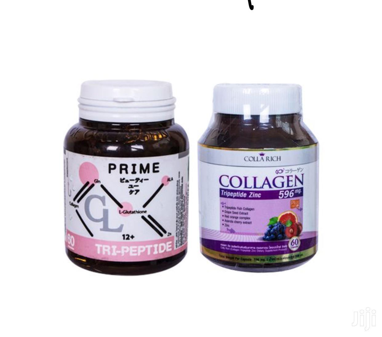 Cl Prime Collagen 60 Capsules Plus Glutathione Combo Set