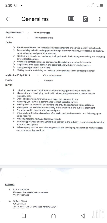 Driver CV | Driver CVs for sale in Imara Daima, Nairobi, Kenya