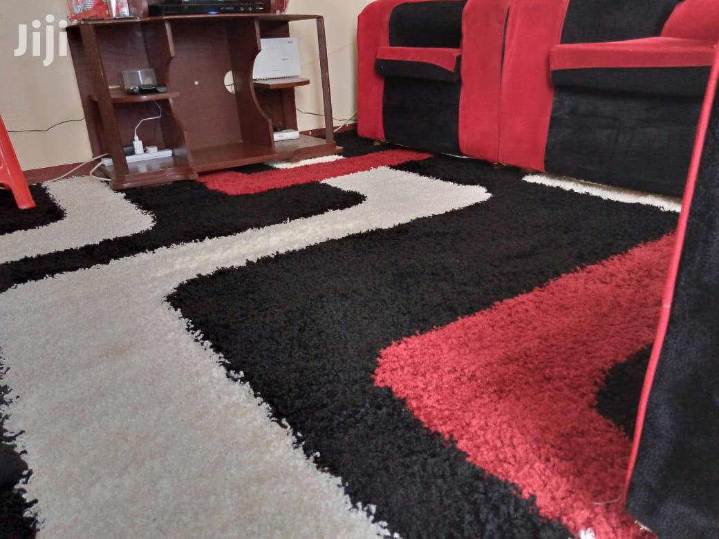 Shaggy Turkish Carpet Red-Black 5*8