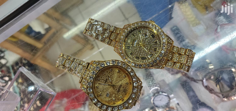 Men Casual Quartz Rolex Iced Watch