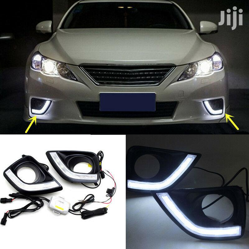 2X DRL Fog Covers (Only): For Toyota Mark X (GRX130)