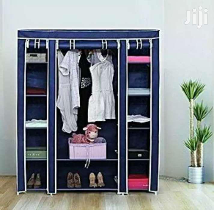 Archive: Portable Wooden Frame Wardrobe 3 Columns - Purple