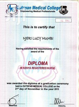 Health Administrators | Healthcare & Nursing CVs for sale in Nyeri, Dedan Kimanthi