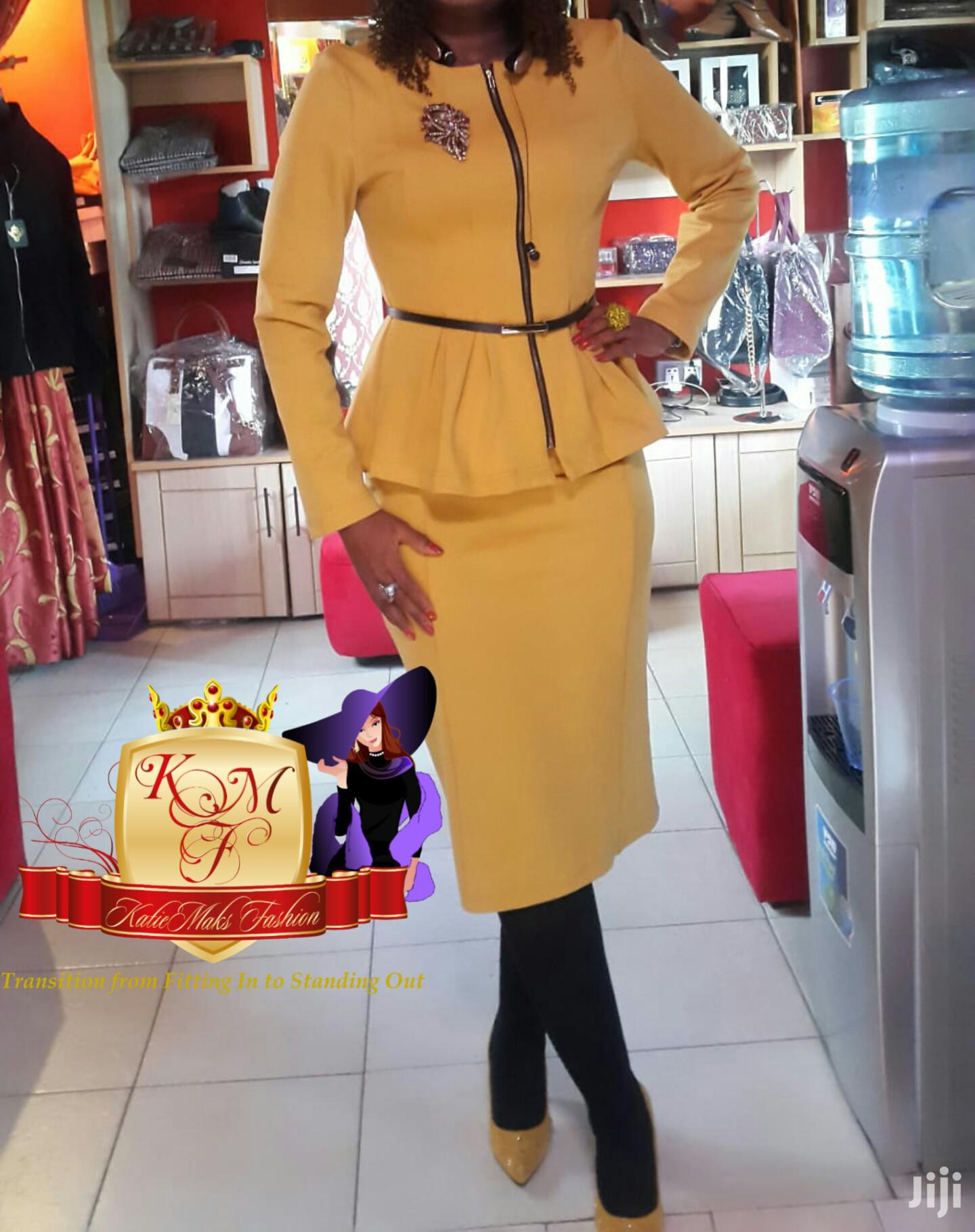 Belted Peplum Set Suit From UK.