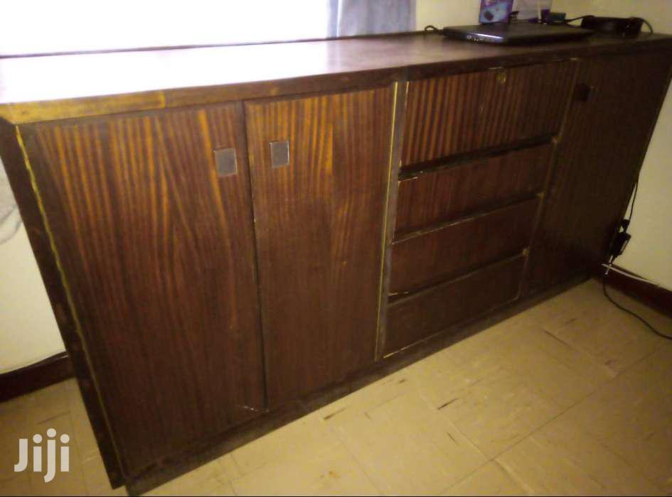 Archive: Hardwood Cupboard With Drawers