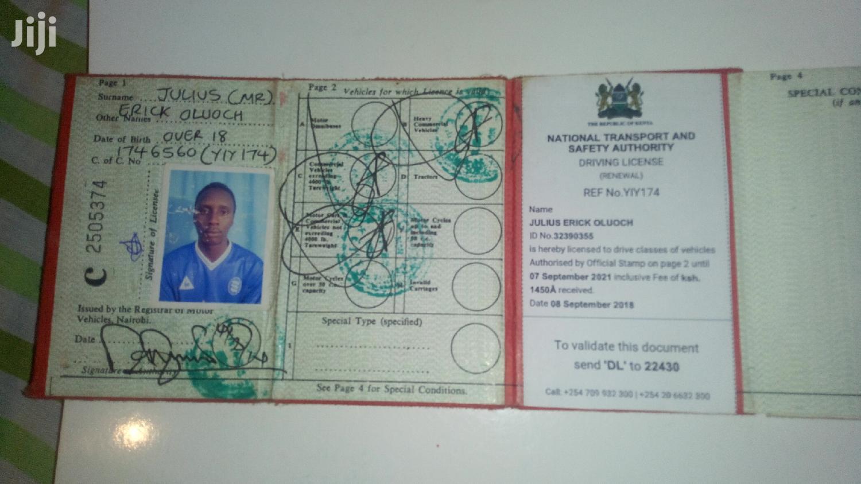 Looking For A Job Driver   Driver CVs for sale in Nairobi South, Nairobi, Kenya