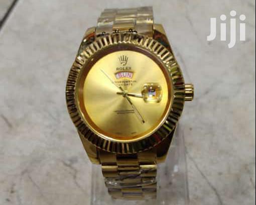 Quartz Unisex Rolex Watch Gold