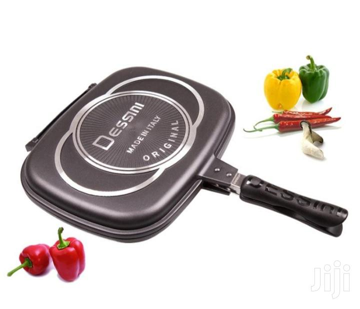 Double Grill Pan Double Frying Pan Double Sided Pan 40cm | Kitchen & Dining for sale in Nairobi Central, Nairobi, Kenya